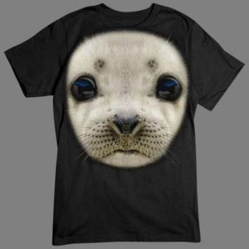 Camiseta con Bebé  Foca en 3D