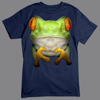 Camiseta con Rana en 3D