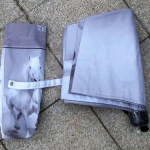 Paraguas caballos blancos [3]