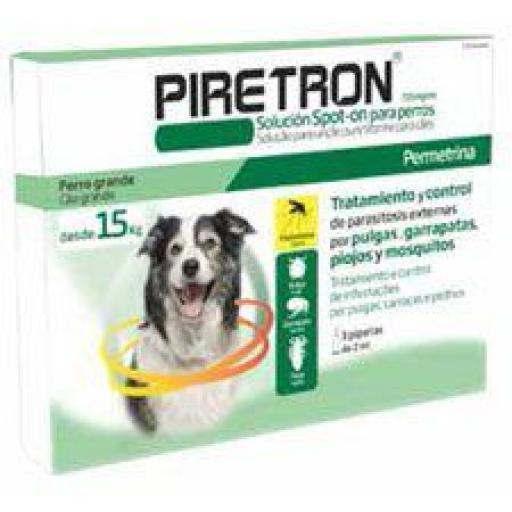 Antiparasitario previene la leishmaniosis Piretron 2 ml para perros de más de 15kg [0]