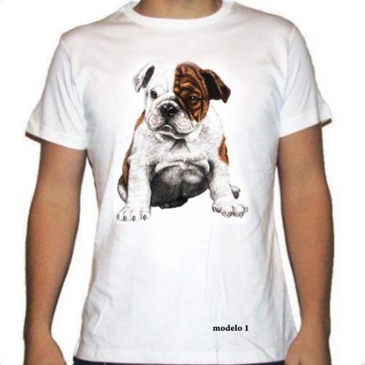 Camiseta con la raza Bulldog Inglés
