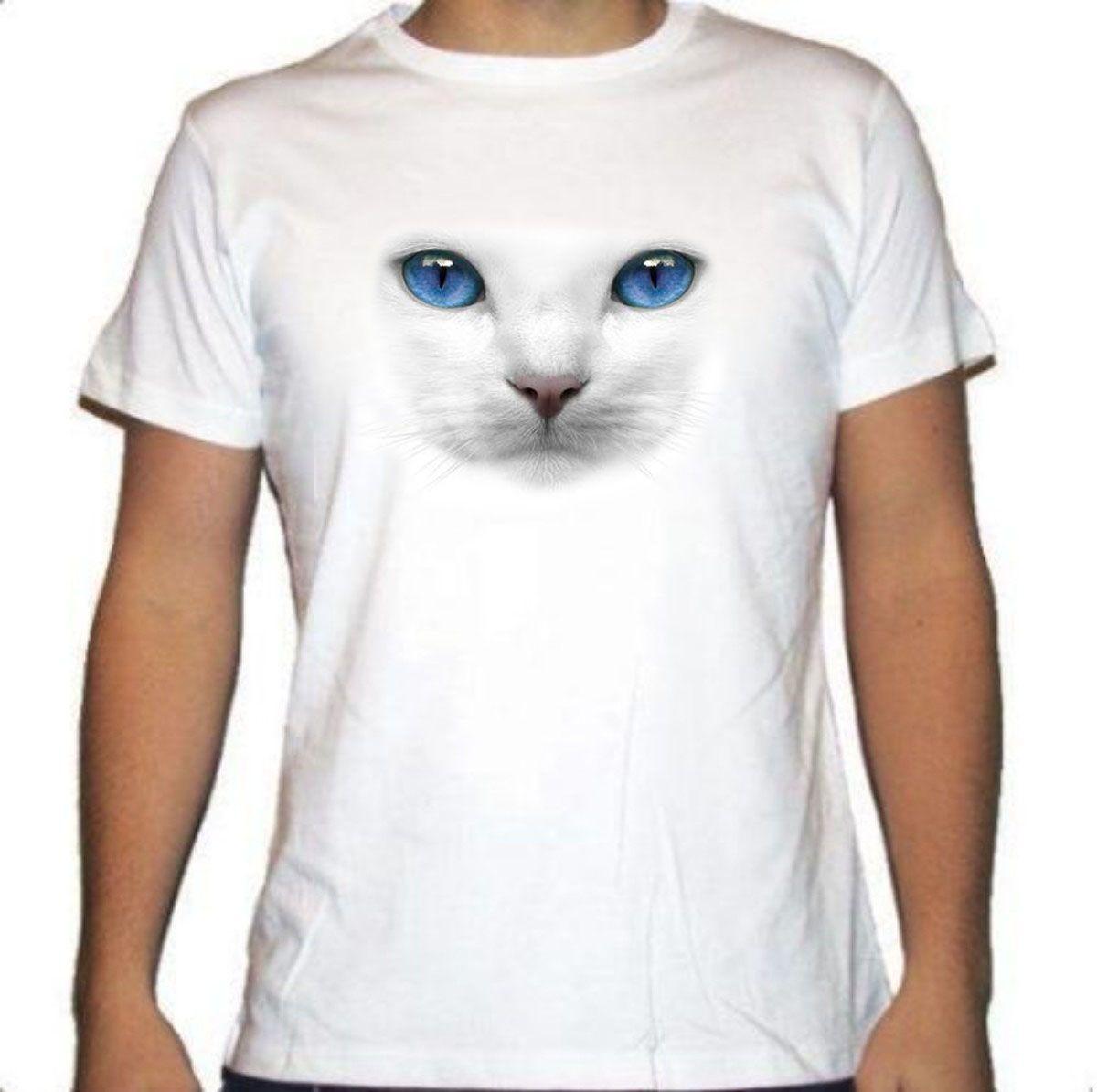 Camiseta Gato Ojos azules