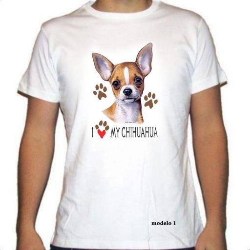 Camiseta Con la raza Chihuahua
