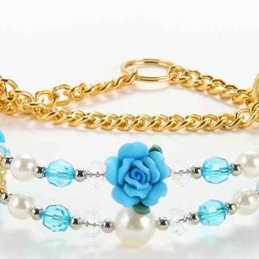 Clásico Conjunto de Collar más Correa con Perlas