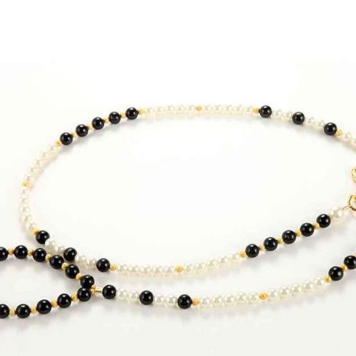 Clásico Conjunto de Collar más Correa con Perlas [2]