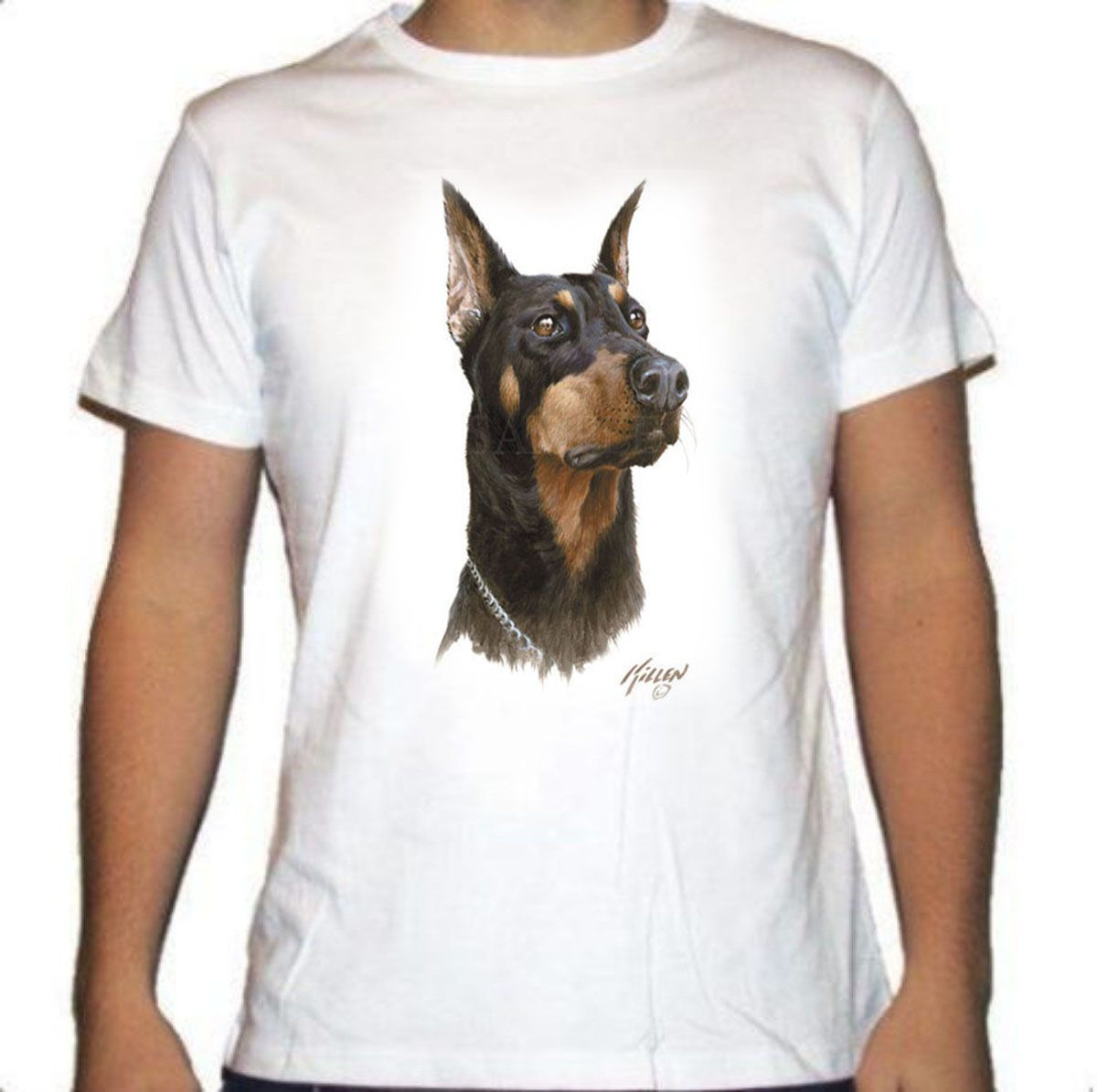 Camiseta con la raza Doberman