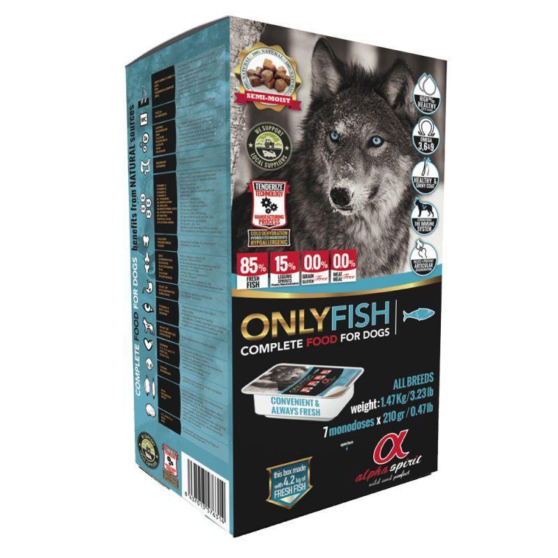 Alpha Spirit Caja Only Fish 45x210g (9,5kg)