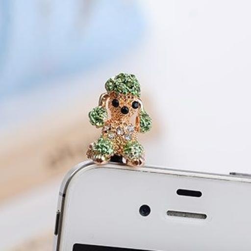 Tapón perrito Caniche con cristales [1]