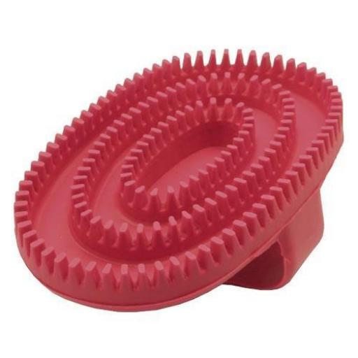 Cepillo de goma oval rojo