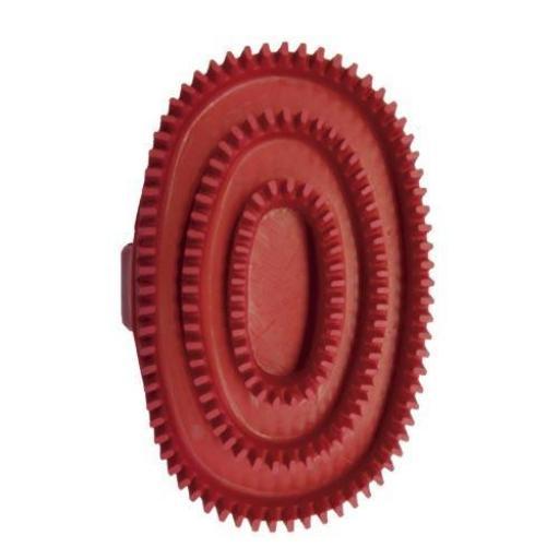 Cepillo de goma oval rojo [1]
