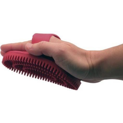 Cepillo de goma oval rojo [2]