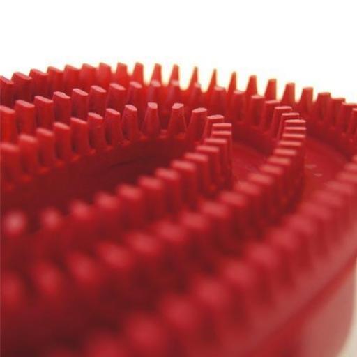 Cepillo de goma oval rojo [3]