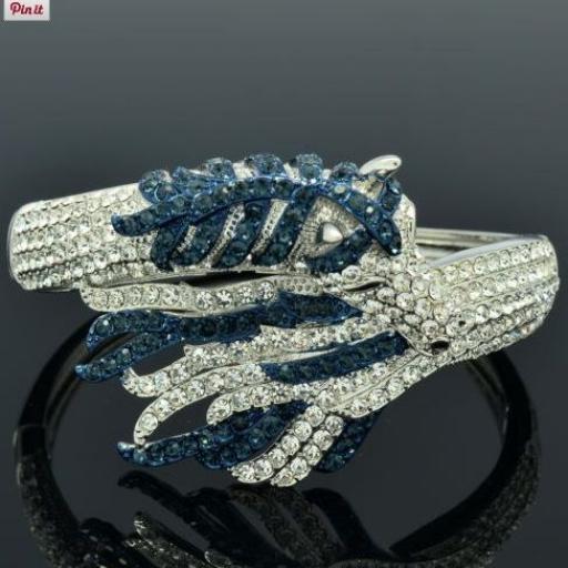 Pulsera brazalete con cristales de Rhinestone [3]