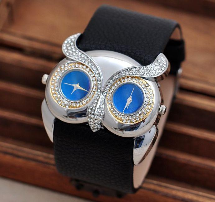 Reloj de alta calidad con cara de Buho