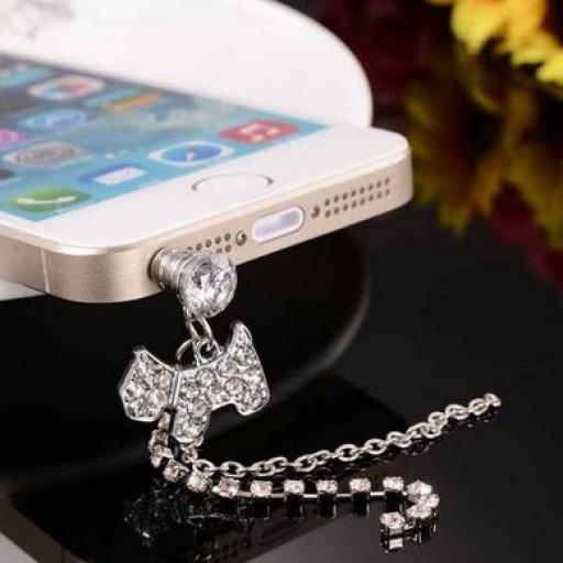 Perrito Swarovski estilo Tiffany