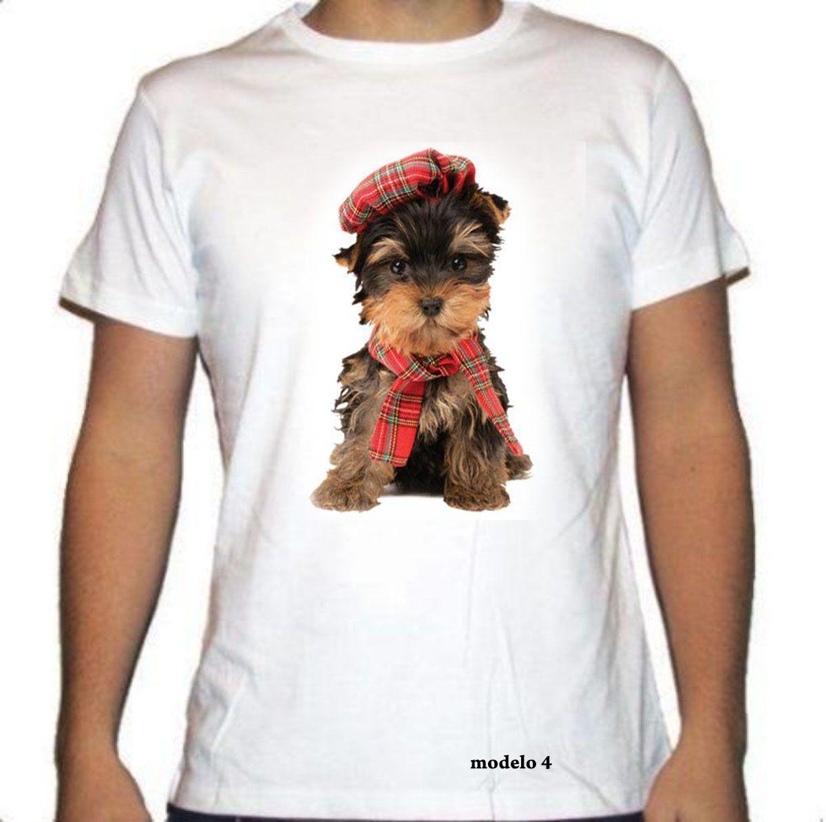 Camiseta con la raza del Yorkshire Terrier