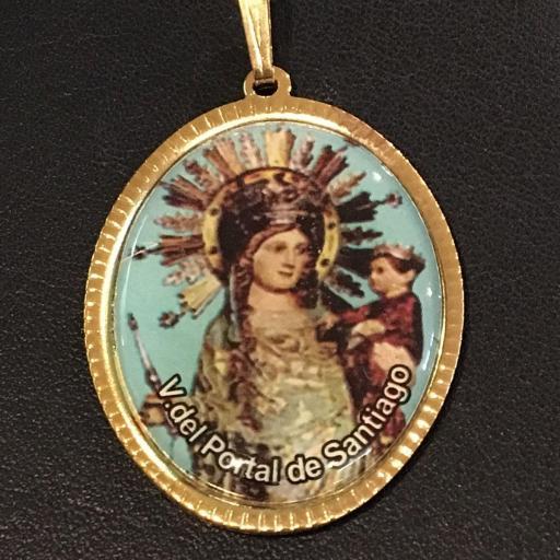 Virgen Del Portal De Santiago Medalla 3,5 cm.