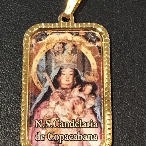 Ntra. Sra. Candelaria De Copacabana. Bolivia Medalla 3x2 cm.