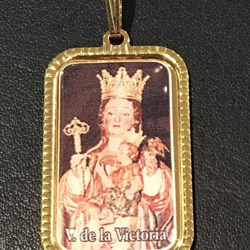 Virgen De La Victoria Medalla 3x2 cm.