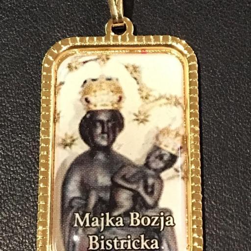 Virgen Majka Bozja Bistricka. Croacia Medalla 3x2 cm.