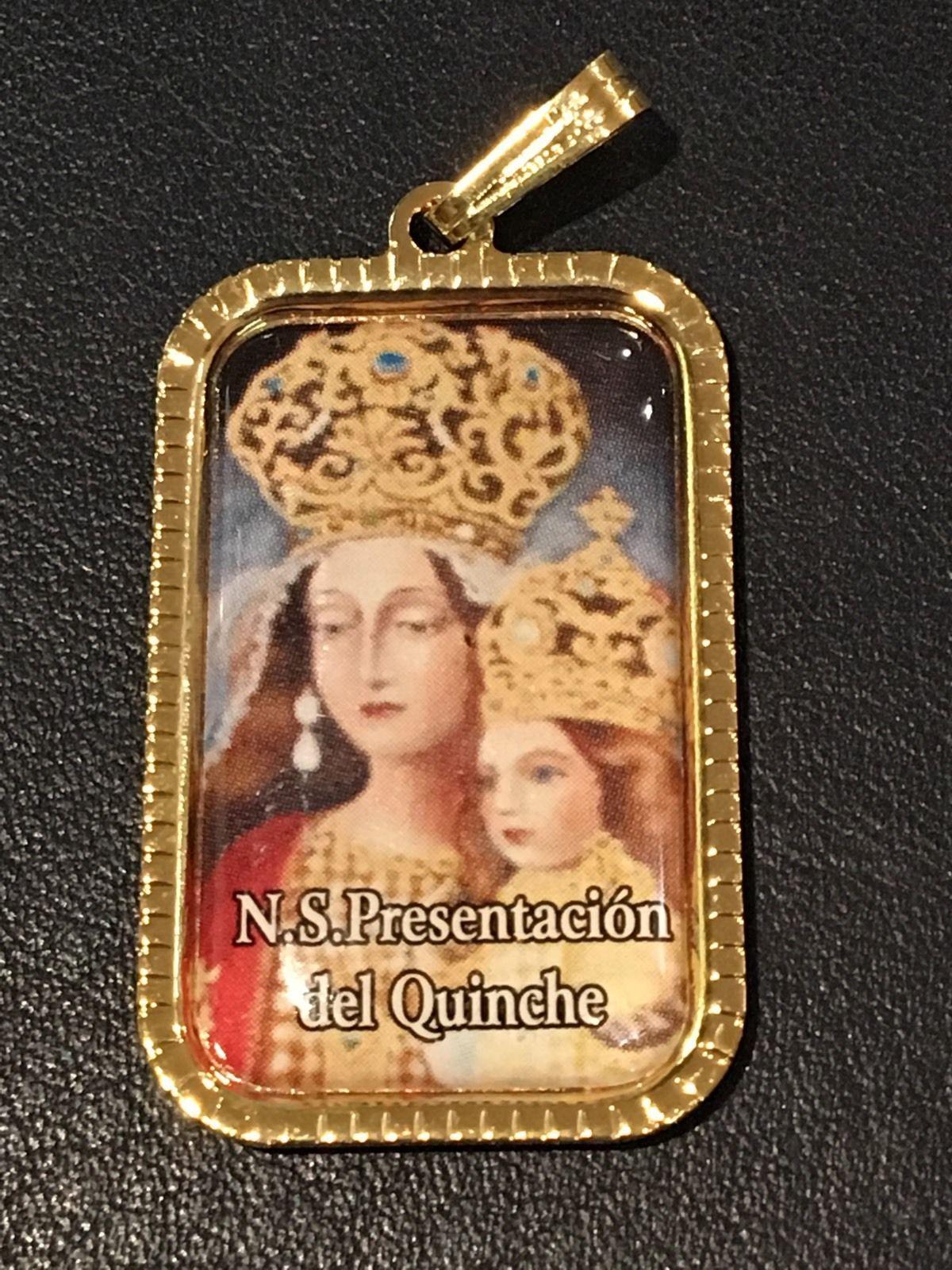 Ntra. Sra. Presentacion Del Quinche. Ecuador Medalla 3x2 cm.