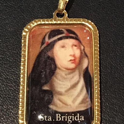 Santa Brigida Suecia Medalla 3x2 cm.