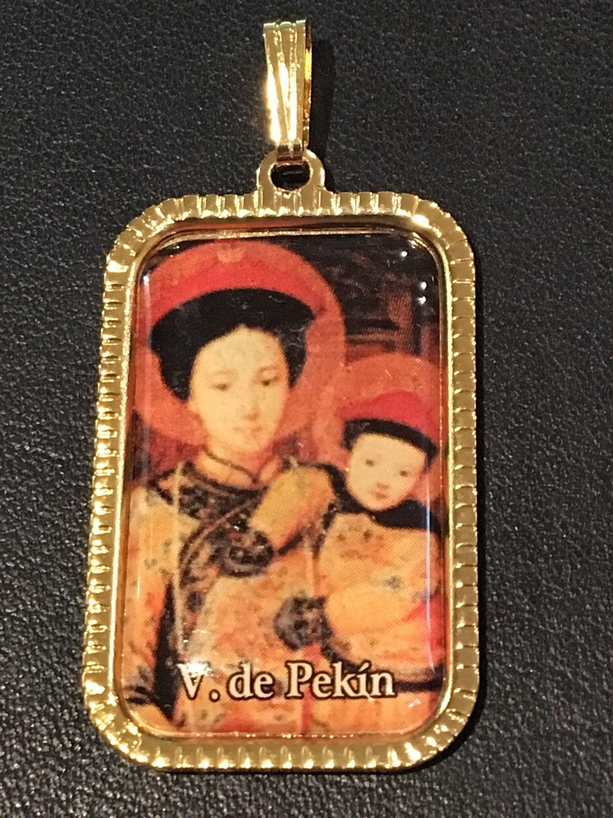 Virgen De Pekin China Medalla 3x2 cm.