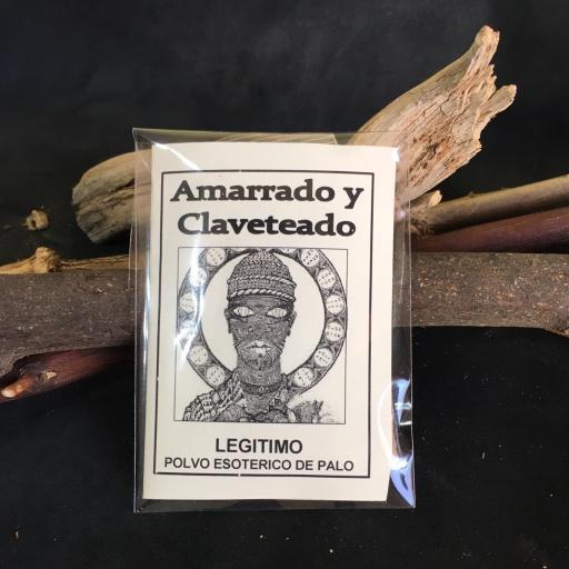 """"""" AMARRADO Y CLAVETEADO """" POLVO ESOTERICO DE PALO - SANTERIA - IFA"""