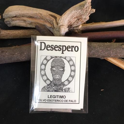""""""" DESESPERO """" POLVO ESOTERICO DE PALO - SANTERIA - IFA"""