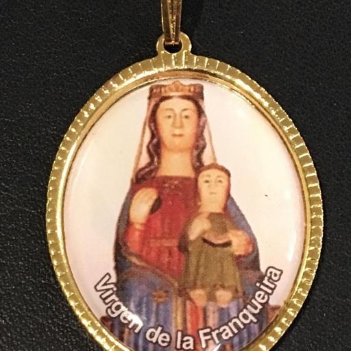 Virgen De La Franqueira Medalla 3,5 cm.