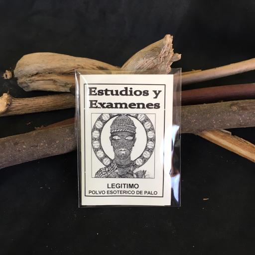 """"""" ESTUDIOS Y EXAMENES """" POLVO ESOTERICO DE PALO - SANTERIA - IFA"""