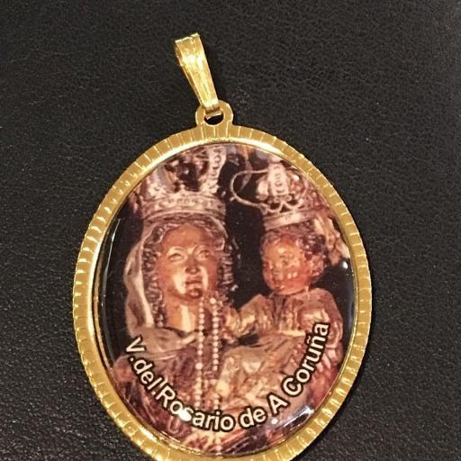Virgen Del Rosario De A Coruña Medalla 3,5 cm.