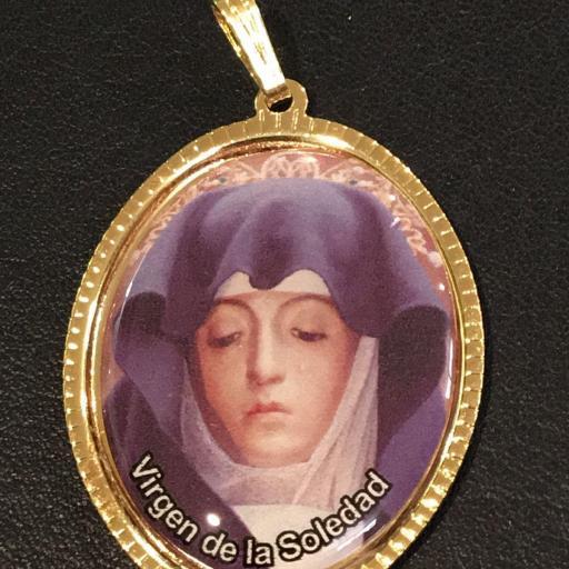 Virgen De La Soledad Medalla 3,5 cm.