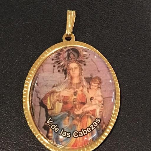 Virgen De Las Cabezas Medalla 3,5 cm.