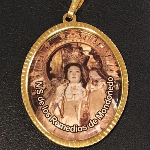 Ntra. Sra. De Los Remedios De Mondoñedo Medalla 3,5 cm.