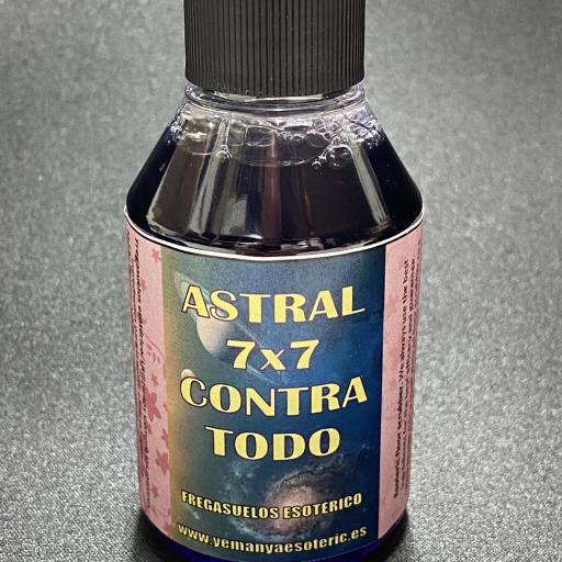 """LAVASUELOS """" ASTRAL 7 x 7 contra todo """" 100 ml FREGASUELOS ESOTERICO"""