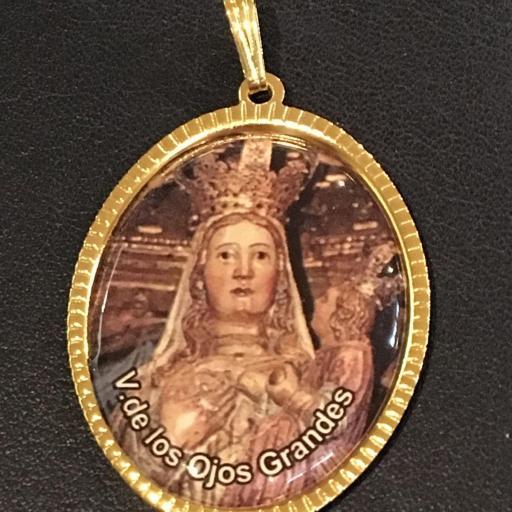 Virgen De Los Ojos Grandes Medalla 3,5 cm.
