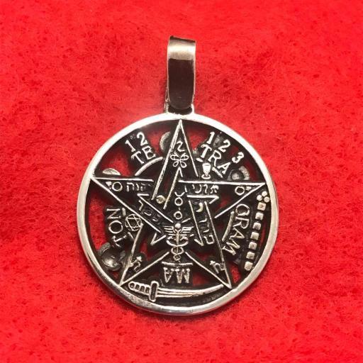 Tetragramaton 7 metales Plata de Ley 2 cm