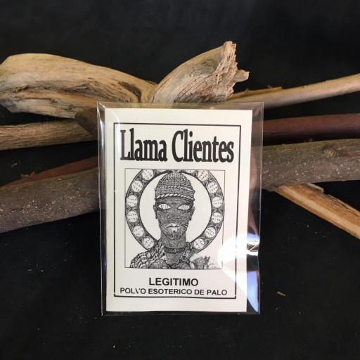 """"""" LLAMA CLIENTES """" POLVO ESOTERICO DE PALO - SANTERIA - IFA"""