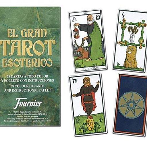 TAROT ESOTERICO FOURNIER 78 Cartas Contiene Manual de Instrucciones  [1]