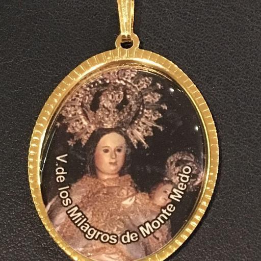 Virgen De Los Milagros De Monte Medo Medalla 3,5 cm.
