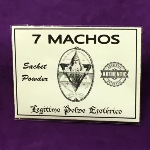☆ 7 MACHOS ☆ LEGITIMO POLVO ESOTERICO 20 GRAMOS
