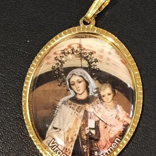 Virgen Del Carmen Medalla 3,5 cm.