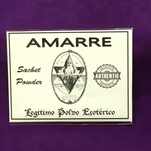 ☆ AMARRE ☆ LEGITIMO POLVO ESOTERICO 20 GRAMOS