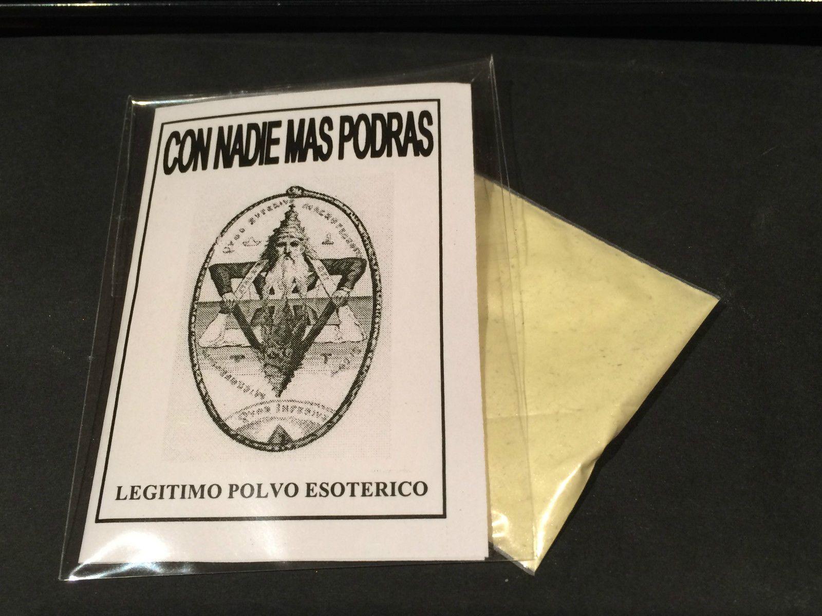 """LEGITIMO POLVO ESOTERICO ESPECIAL """" CON NADIE MAS PODRAS """""""
