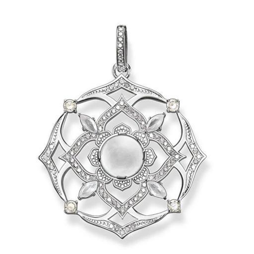 Amuleto - Colgante - Flor Loto - Protección - Plata de Ley 925 (Ritualizado) 50mm