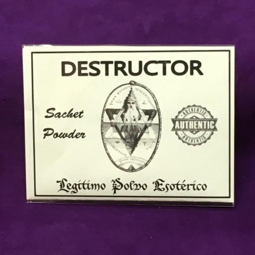☆ DESTRUCTOR ☆ LEGITIMO POLVO ESOTERICO 20 GRAMOS