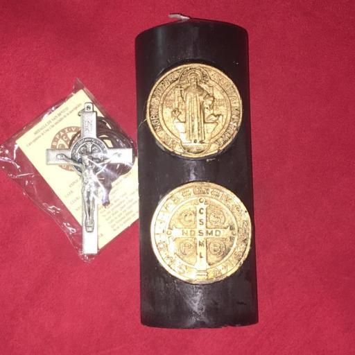 Velon Ritualizado de San Benito con Cruz de 7cm.