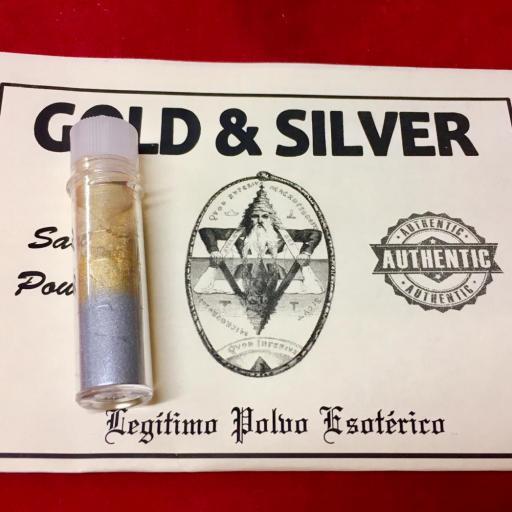 ☆ GOLD & SILVER ☆ LEGITIMO POLVO ESOTERICO !!! SACHET POWDER