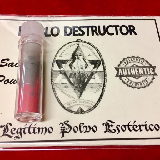 ☆ NEGRO DESTRUCTOR ☆ LEGITIMO POLVO ESOTERICO !!! SACHET POWDER